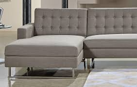 Tufted Sectional With Chaise Clovis Tufted Back Fabric Sectional