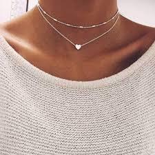 multi layer necklace images Heart multilayer necklace estel rose jpg