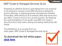 service level agreements 6 sla essentials for msp success
