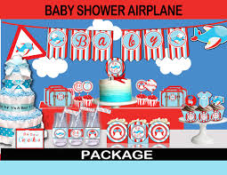 airplane baby shower airplane baby shower party package instant