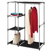 Wardrobe With Shelves by Whitmor Spacemaker Garment Rack And Shelves Black Target