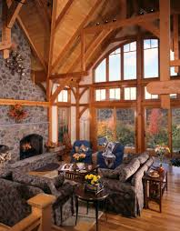 A Timber Frame House With A View Timberpeg Timber Frame Post