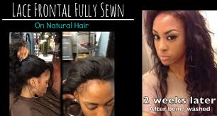Los Angeles Hair Extensions by Lace Frontal Sew In Weave On Natural Hair No Glue Los Angeles