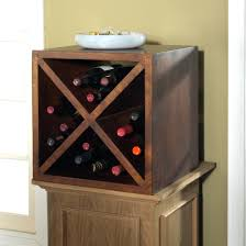 storage handsome diamond cube wine rack lasting durability of a