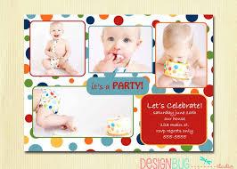 template free first birthday boy invitation ideas with modern