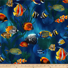 Fish Home Decor Accents Island Sanctuary Sea Tropical Fish Cobalt Discount Designer