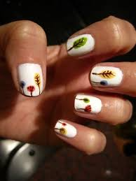 thanksgiving fingernails fall leaf nail designs