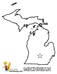 Blank Map Of South America by Michigan State Map Outline Michigan Map