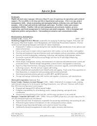 Job Resume It by Resume Technical Manager Resume For Your Job Application