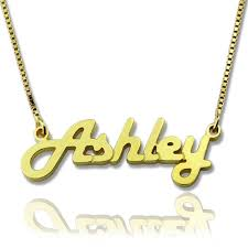 gold plated name necklace retro stylish name necklace 18k gold plated