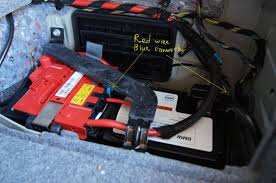 bmw e90 battery cable at battery