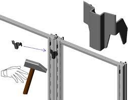 montante scaffale sistemi fissaggio scaffalature con crociera in magazzini