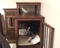 dog crate end table etsy