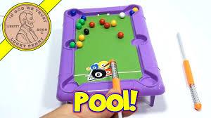 mini desk top novelty pool table dollar store game ja ru toys