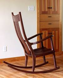Wood Rocking Chair Walnut Rocking Chairs Comfortable Handmade Heirlooms