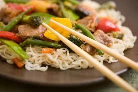cuisiner au wok recette wok de poulet aux nouilles facile