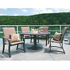 telescope casual villa sling 5 piece outdoor patio dining set
