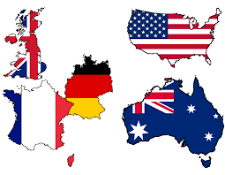 Austrslia Flag Image Usa U K France Germany And Australia Flag Maps Png