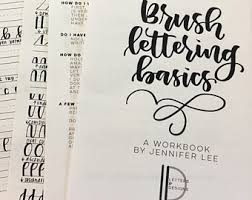brush lettering etsy