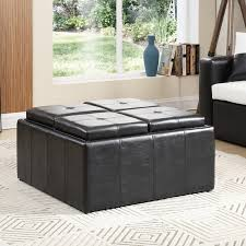hodedah large storage ottoman u0026 reviews wayfair