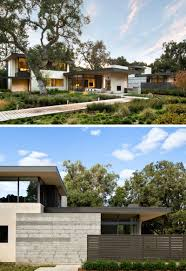Modern Hosue by This California Home Preserved The Existing Trees To Maintain A