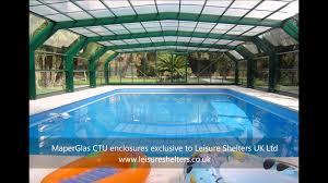 maperglas ctu swimming pool enclosure from leisure shelters uk ltd