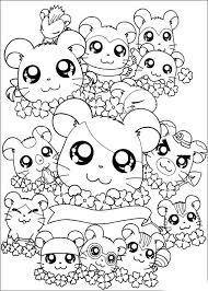 hamtaro coloring pages 5 cute kawaii resources