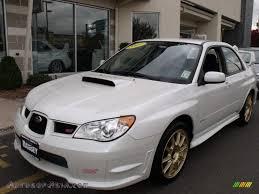 sti subaru white 2007 subaru impreza wrx sti in satin white pearl 514817 autos