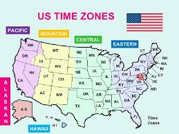 map showing time zones in usa map of usa showing time zones seaports map map showing time zones