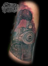 52 steam train tattoos