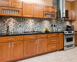 Kitchen With Mosaic Backsplash by Furniture Modern Kitchen Design With Elegant Rta Cabinets And