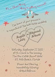 Simple Invitation Cards Summer Beach Themed Wedding Invitation Card With Beach Sand
