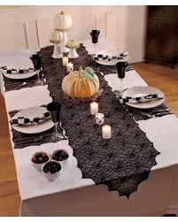 halloween background family decoration halloween party table runner with lace trim 13x70