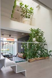 Garden Inside House by Several Levels Of Tiered Open Spaces Are Found Inside This New