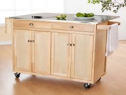 mobile kitchen island table wooden portable kitchen island wheels designs ideas and decors