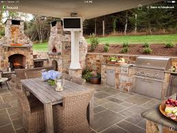 Best Outdoor Kitchen Landscape Images On Pinterest Backyard - Backyard kitchen design
