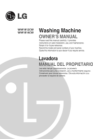 lg electronics washer dryer wm1812cw user guide manualsonline com