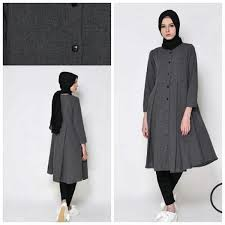 blazer wanita muslimah modern jual thschristal baju kaos kemeja pakaian atasan perempuan