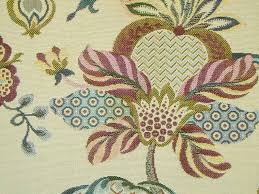 Tapestry Fabrics Upholstery Curtain Fabric Upholstery Fabric Jacobean Tapestry Cream