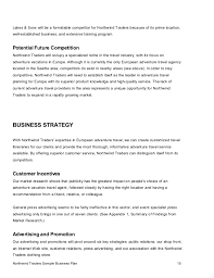 business plans sample 23 u201ccompany a u201d limited u2013 business plan