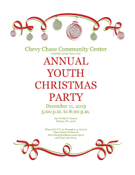 annual youth christmas party on wednesday december 11 2013