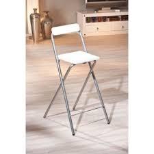 tabouret de bar chaise de cuisine chaise d appoint pliable gris alu