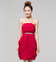 bridesmaid rose red short mini wedding chiffon prom evening dress