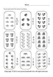count the pictures and circle the correct number kids stuff
