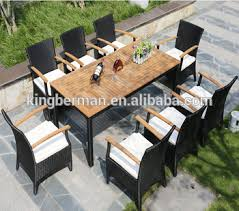 Outdoor Rattan Dining Chairs Best Selling Outdoor Rattan Dining Set Synthetic Rattan Cube Table