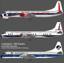 eastern airlines lockheed electra paint scheme evolution however the last livery was not the definitive eastern hockey stick the two tone blue stripes