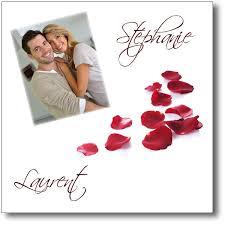 faire part mariage avec photo faire part mariage pétales de avec ou sans photo