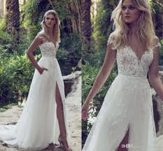 discount limor rosen 2018 a line lace wedding dresses illusion
