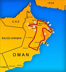 map of oman and uae top things to do in oman travels