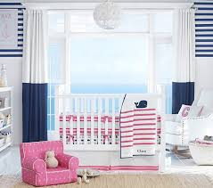 Whale Crib Bedding Htons Whale Baby Bedding Set Pottery Barn